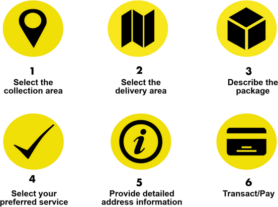 Book your parcel delivery with Internet Express in 6 easy steps